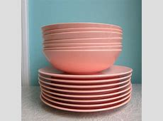 Vintage Pink Melamine Dishes   Kitchen Love   Vintage pink