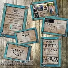 Rustic Country Wedding Invitations Rustic Wedding Invitation And Stationery Set Rustic Turquoise