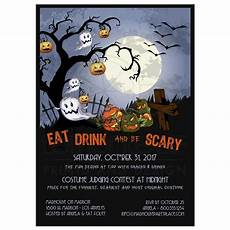 Halloween Invites Eat Drink And Be Scary A Spooky Graveyard Halloween Party
