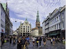Strøget Pedestrian Shopping Street in Copenhagen