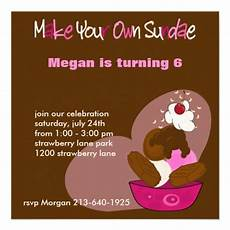 Create Your Own Birthday Invitations Make Your Own Sundae Birthday Invitation Zazzle