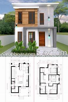 small home design plan 5 4x10m with 3 bedroom modern