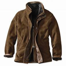 orvis coats s leather and shearling jacket bedford leather