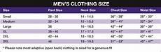 James Men S Size Chart Men S Size Chart Rolling Spokes