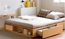 sleep and stow bed frames with built in storage remodelista