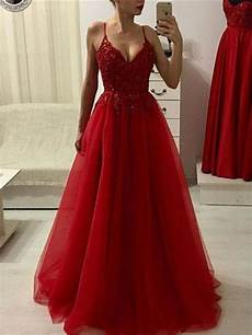 Back Ups Es 550 Red Light A Line Sleeveless Floor Length Applique Tulle Red Prom