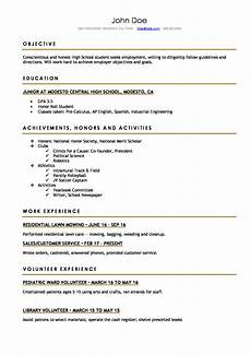 College Resume Examples For High School Seniors High School Resume Resume Templates For High School
