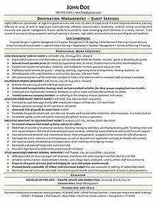 Concierge Resume Examples Concierge Resume Example Guest Services Agent