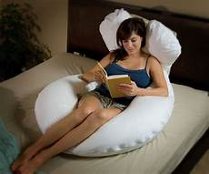 white sitting pillow for the bed sit up bent knee back