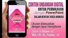 contoh undangan digital pernikahan dengan powerpoint youtube