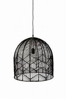 Black Rattan Ceiling Light Lace Rattan Pendant Black In 2020 Wire Pendant Light