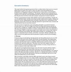 Executive Summary Report Executive Report Template 15 Free Sample Example
