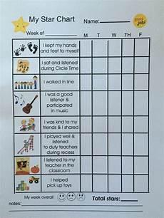 Sticker Chart For Toddler Behavior Toddler Positive Behavior Star Chart Preschool Behavior