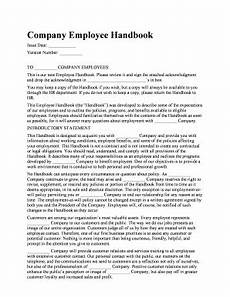 Generic Employee Handbook Edit Online Fill Out Amp Download Business Forms In Word