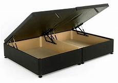 regent black 4ft 6in ottoman storage divan bed base