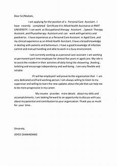 Cover Letter Mental Health Worker Allied Health Assistance Cover Letter