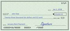 Filled Out Check How To Write A Check Learn How To Fill Out A Check Example