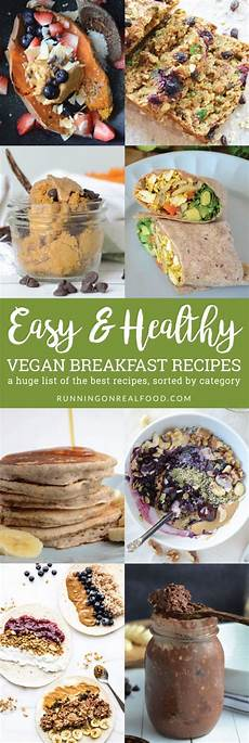 easy healthy vegan breakfast recipes running on real food