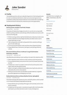 Qualification On A Resumes Delivery Driver Resume Amp Writing Guide 12 Resume