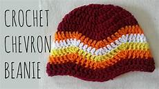 chevron beanie easy crochet pattern tutorial