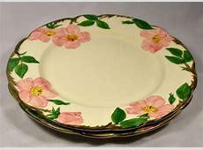 "Franciscan Dinnerware Desert Rose Plates Qty 2 10.5"" Made"