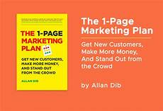 1 Page Marketing Plan The 1 Page Marketing Plan Soundview Magazine