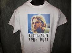 Nirvana Kurt Cobain Face Tshirt: White Tshirt ? TshirtNow