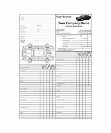 Garage Estimate Template Auto Repair Estimate Template Excel Charlotte Clergy