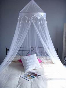 white satin crown mosquito net bed single king