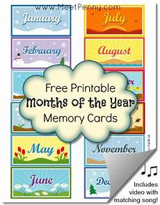 Printable Month Free Printable Months Of The Year Memory Cards Meet Penny