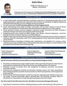 Cv Civil Engineer Uae Civil Engineer Resume Job Resume Format