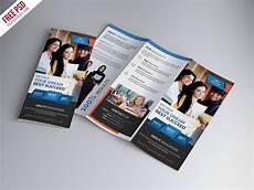 education tri fold brochure psd template