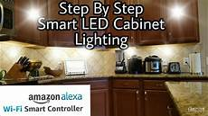 how to install smart led cabinet lights torchstar