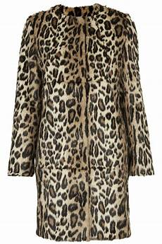 topshop chesilton coat by unique in animal multi lyst