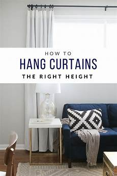 How To Hang Curtains Properly How To Hang Curtains High And Wide To Make Your Window