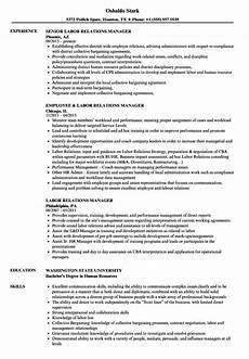 Employee Relations Manager Resume Samples Labor Relations Manager Resume Samples Velvet Jobs