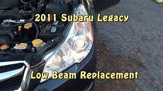 Subaru Outback Brake Lights Not Working 2011 Subaru Legacy Low Beam Headlight Replacement Youtube