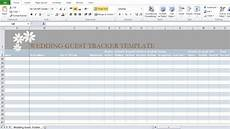 Wedding Excel Template Wedding Guest List Template In Excel Excel Tmp