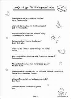 Malvorlagen Kinder Pdf Quiz Quizfragen Kindergartenkinder Quizfragen F 252 R Kinder