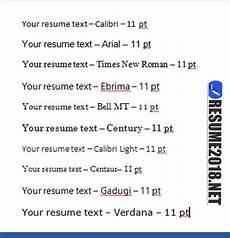 Resume Fonts Resume Format 2018 20 Free To Download Word Templates