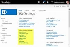 Sharepoint Solution Gallery Sharepoint Online Web Designer Galleries Site Columns