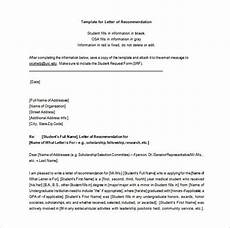 Letter Or Recommendation Template Letters Of Recommendation 28 Free Word Excel Pdf