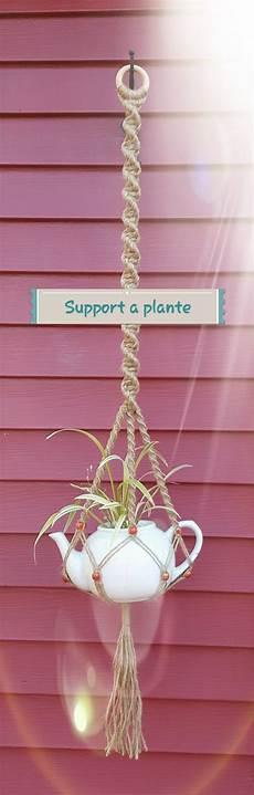 vaso suspenso cabides de macram 233 para plantas ideias