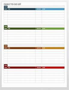 Google To Do List Template 30 Free Task And Checklist Templates Smartsheet