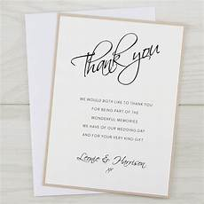 Wedding Thank You Card Examples Scriptana Thank You Card Pure Invitation Wedding Invites