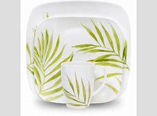 Corelle Squares Bamboo Leaf 16 Piece Dinnerware Set