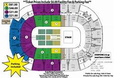 St Charles Family Arena Seating Chart With Seat Numbers Casting Crowns Map Revised