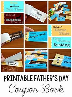 How To Make A Coupon Book For My Boyfriend Printable Father S Day Coupon Book Fathers Day Dad Day