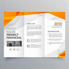 Brochure Sample Designs Abstract Orange Trifold Brochure Design Business Template
