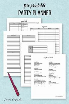 Party Planning Templates Party Planner Printable S Crafty Life